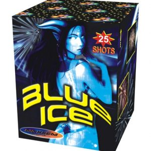 Большая ЗАЛПОВАЯ батарея салютов BLUE ICE арт.MC100