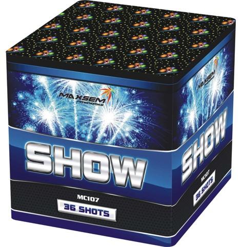 Компактная батарея салютов SHOW арт.MC107