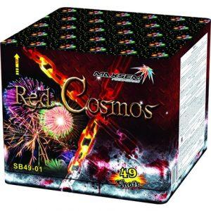 Большая батарея салютов RED COSMOS арт.SB49-01