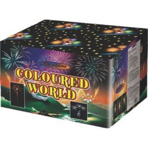 Большая батарея салютов COLOURED WORLD арт.GWM6121